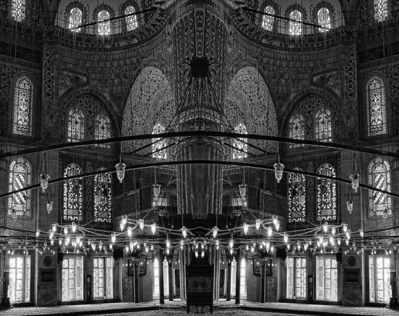 Michael Katz - Parallax View the World - The Blue Mosque, photograph on aluminium, 101x152cm