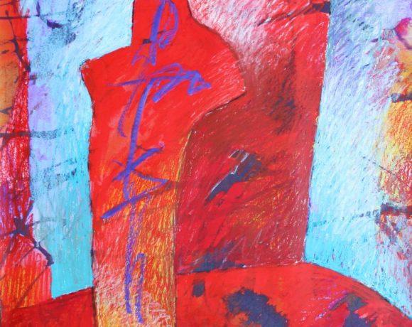 Karl Stengel - The opera singer - pastel on paper - cm81x80,5